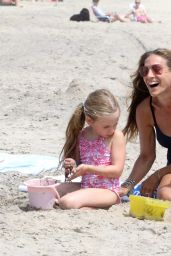 Sarah Jessica Parker in a Swimsuit on the Beach in Montauk - August 2014