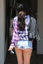 Selena Gomez Booty in Cutoffs - Heading to a Business Meeting in Los Angeles