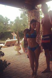 Selena Gomez & Francia Raisa in Swimsuts - Twitpics, August 2014