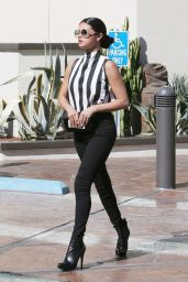 Selena Gomez in Stripes - Out in Los Angeles - August 5, 2014