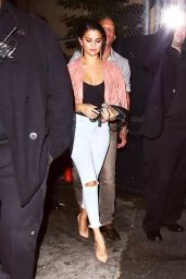 Selena Gomez Night Out Style - Leaving The Abbey Nightclub in West Hollywood, August 2014