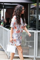 Selena Gomez Street Style - Leaving Electric Bar & Grill in Hollywood, August 2014