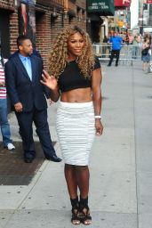 Serena Williams Arriving at