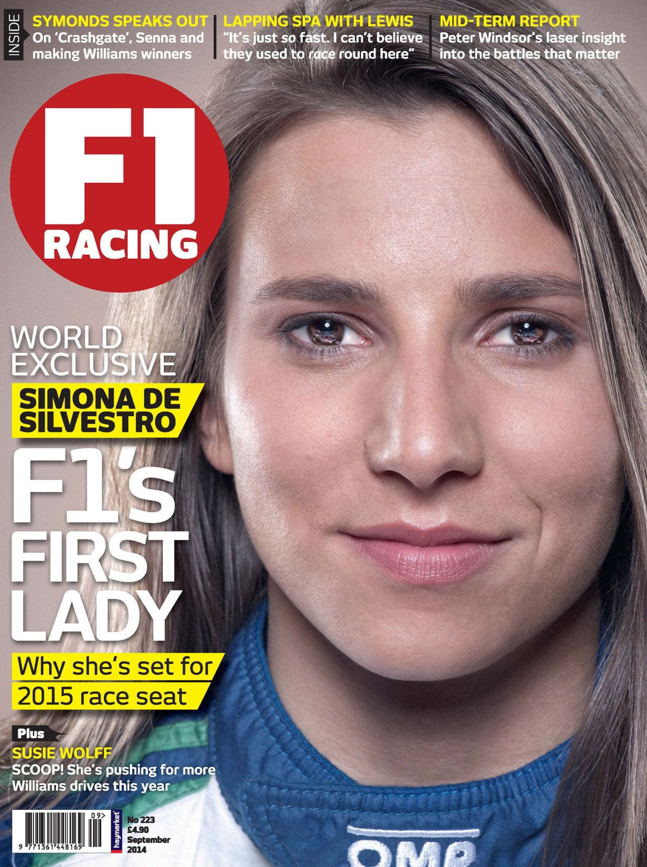 Simona de Silvestro - F1 Racing Magazinr - September 2014