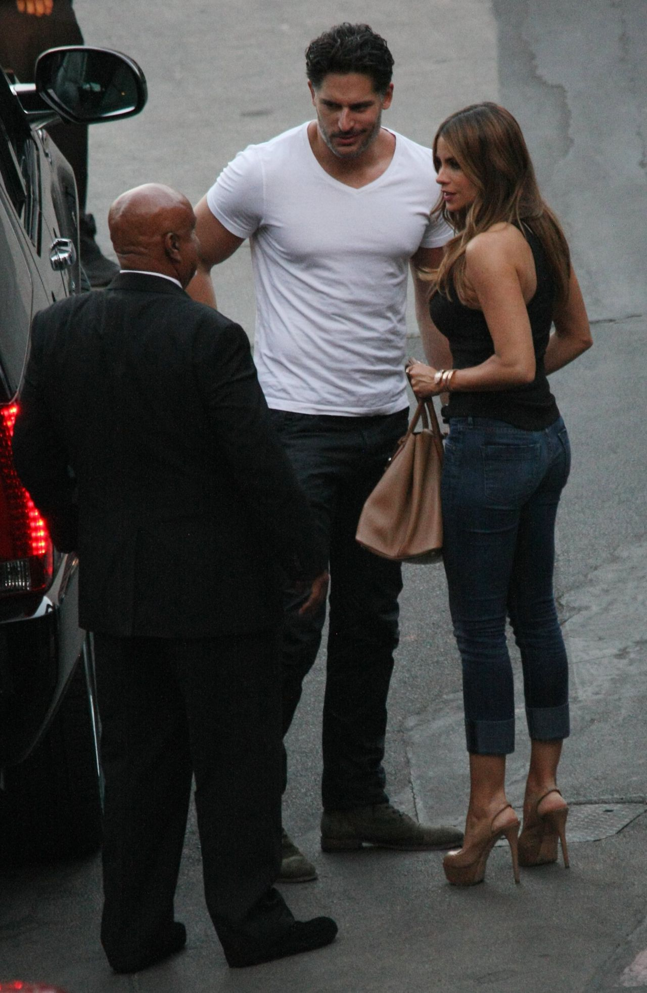 Sofia Vergara and Joe Manganiello Arriving at the Hollywood Bowl in Los Angeles - August 2014