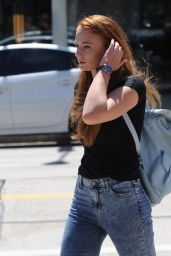 Sophie Turner in Skinny Jeans - Out in Beverly Hills - August 2014
