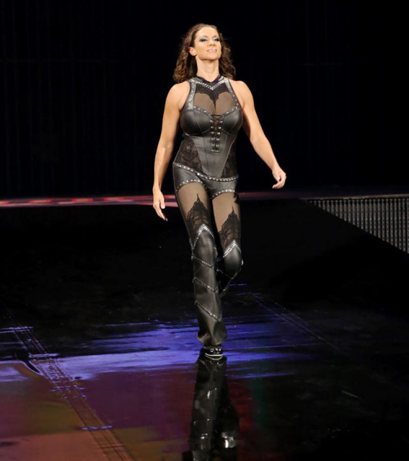 Stephanie Mcmahon In A Tight Leather Outfit Wwe