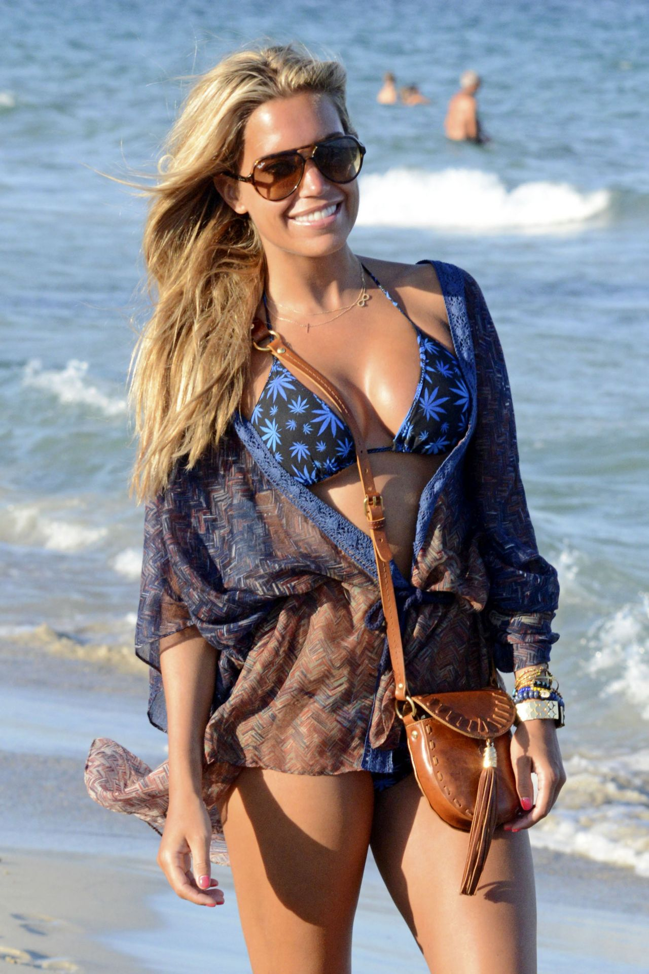 Sylvie Meis Bikini Candids - on the Beach in Ibiza - August 2014