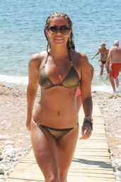 Sylvie Meis Hot in a Bikini - Beach in Ibiza - August 2014