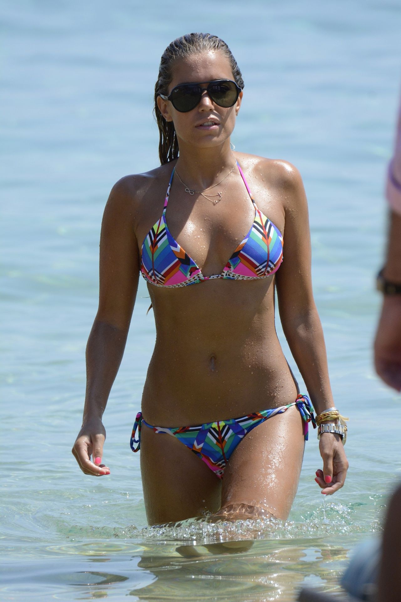 Sylvie Meis in Black Bikini on the beach in Miami Pic 6 of 35