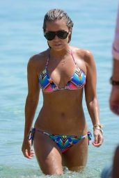 Sylvie Meis Hot in a Bikini on the Beach in Mykonos - August 2014