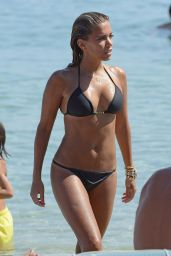 Sylvie Meis Hot in Black Bikini on the Beach in Mykonos - August 2014