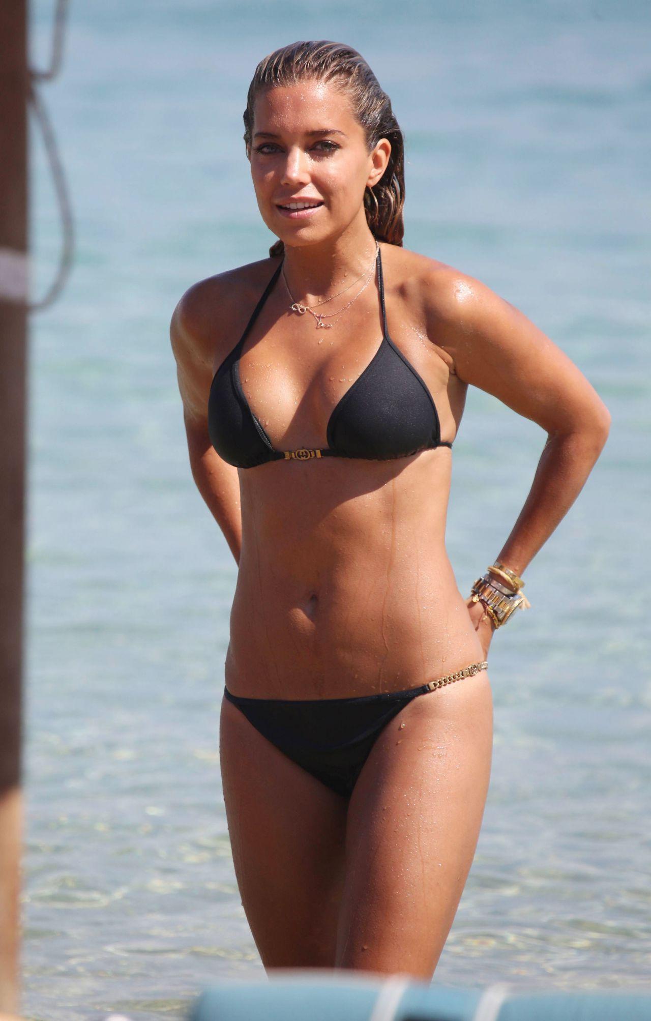 Sylvie Meis Hot In Black Bikini On The Beach In Mykonos