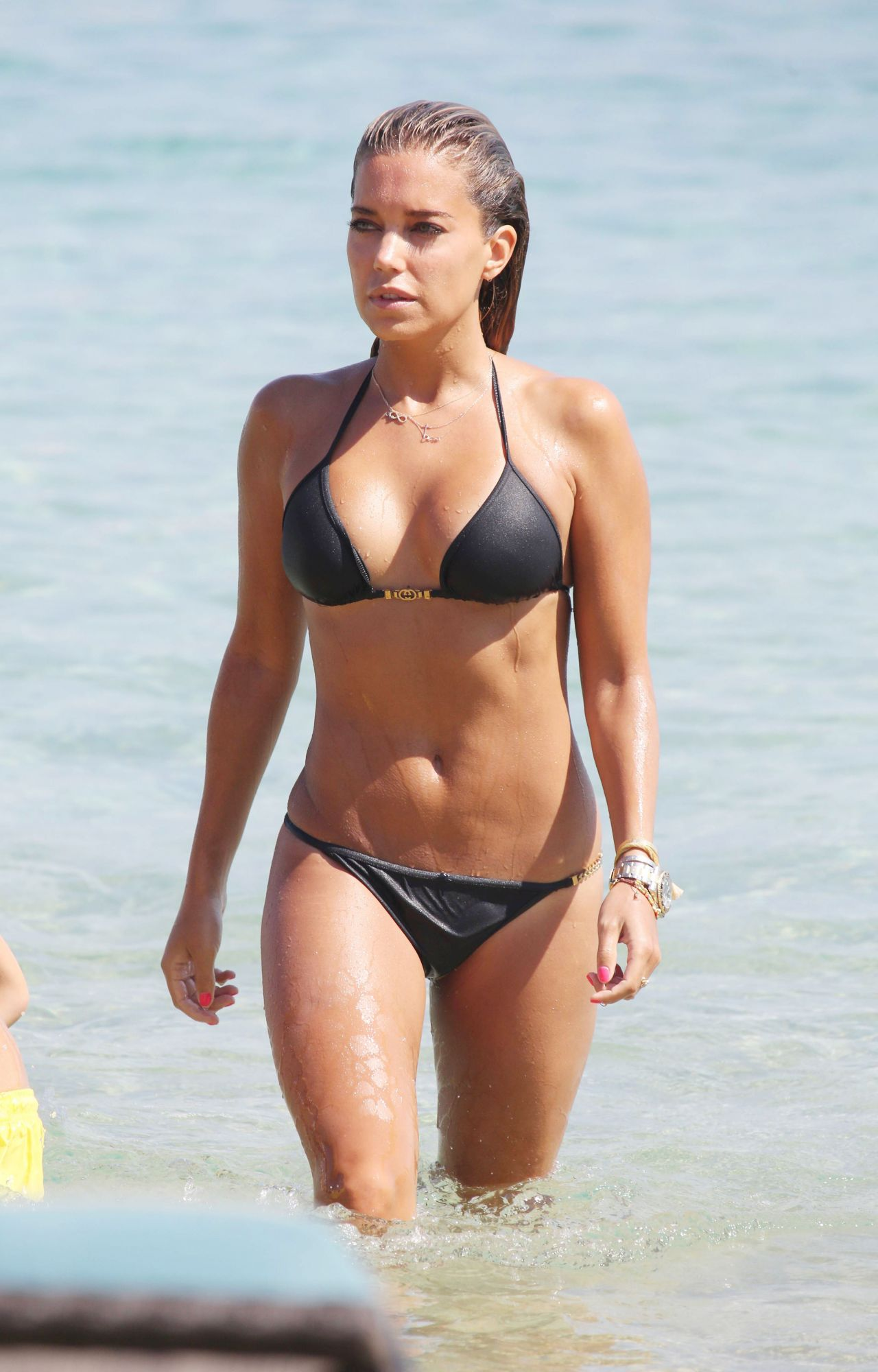 Sylvie Meis in Black Bikini on the beach in Miami Pic 20 of 35