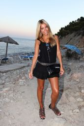 Sylvie Meis Hot in Mini Dress - Beach in Ibiza, Aug. 2014