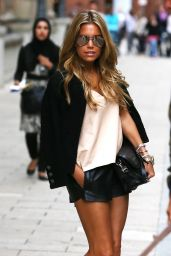 Sylvie Meis Hot Legs - Shopping in Hamburg - August 2014