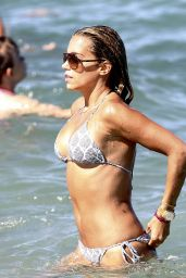 Sylvie Meis - On the beach in St. Tropez - June 30, 2014