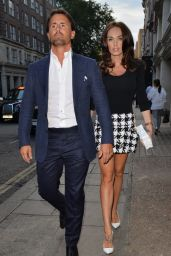 Tamara Ecclestone Shows Legs in a Short Skirt - Nobu Restaurant, August 2014