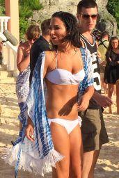 Tulisa Contostavlos Bikini Candids - Bermuda Beach, August 2014