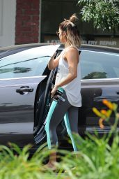 Vanessa Hudgens in Tights - Out in Studio City, August 2014