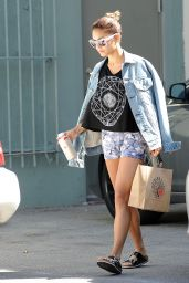 Vanessa Hudgens - Leggy in Shorts - Orchard Flats in Studio City, Aug. 2014