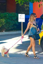 Vanessa Hudgens Walking Her Dogs - Out in Studio City - August 2014
