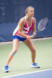 Victoria Azarenka Practice at the 2014 US Open in New York City