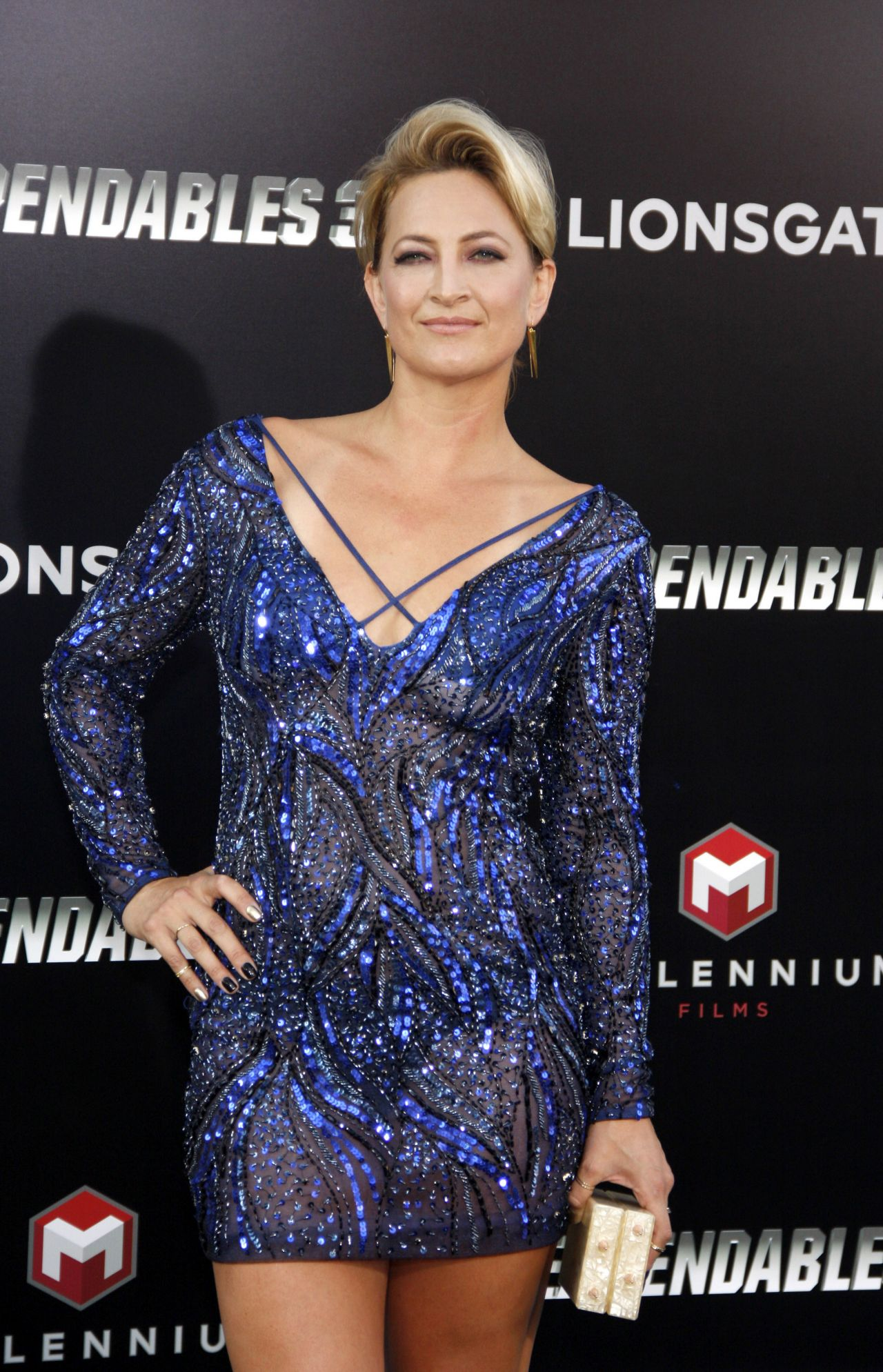 Zoe Bell The Expendables 3 Premiere In Hollywood