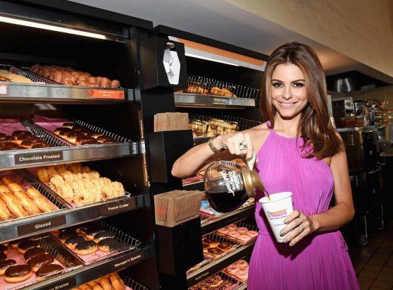 Maria Menounos - Dunkin' Donuts Dark Roast Ceremonial First Pour in Santa Monica