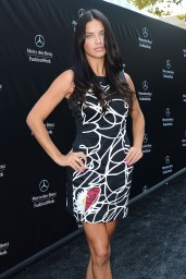 Adriana Lima at the Disegual Show at New York Fashion Week – September 2014