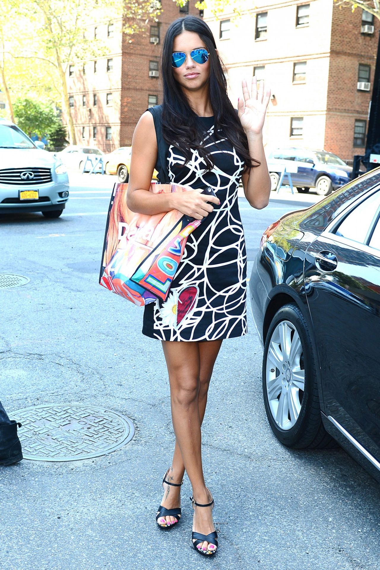 September 2014 Issue: Adriana Lima At The Disegual Show At New York Fashion Week