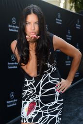 Adriana Lima at the Disegual Show at New York Fashion Week - September 2014