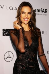 Alessandra Ambrosio – amfAR Gala at Milan Fashion Week – September 2014