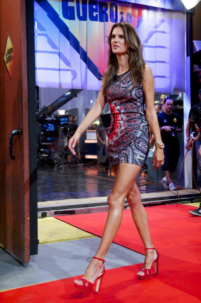 Alessandra Ambrosio Appeared on 'El Hormiguero' TV show in