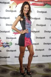 Alessandra Ambrosio Hot - Desigual Cibeles 2014 Fashion Show in New York City