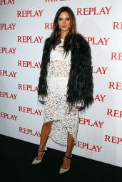 Alessandra Ambrosio - Replay Store Preview in Milan - September 2014
