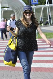 Alexandra Daddario Arrives at 71st Venice Film Festival