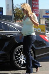 Ali Larter at a Gas Station in Los Angeles - September 2014