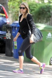 Ali Larter in Leggings - Going to the Gym in West Hollywood - September 2014