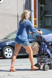 Ali Larter in Shorts - Shopping in Los Angeles, August 2014