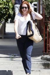 Alyson Hannigan Street Style - Out in Brentwood - September 2014