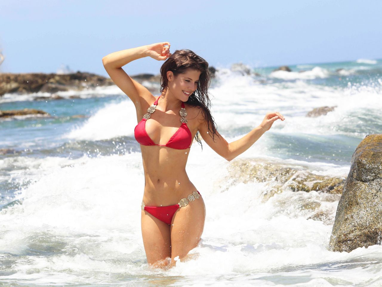 Amanda Cerny Bikini Photoshoot - on the Set of a Music Video in Aruba