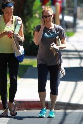 Amy Adams in Leggings Out in Studio City - September 2014