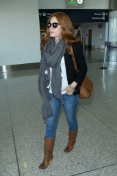 Amy Adams Style - at LAX Airport - September 2014