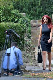 Amy Childs in Tight Dress Out in Chigwell Essex - September 2014
