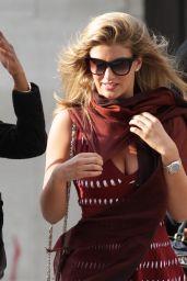 Amy Willerton in Mini Dress Leaving BBC Studios in London - September 2014
