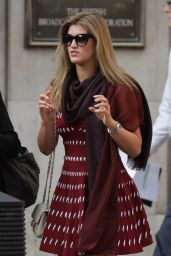 Amy Willerton in Mini Dress Leaving BBC Studios in London - September 2014