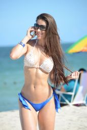 Anais Zanotti Bikini Photoshoot - Beach in Miami - September 2014
