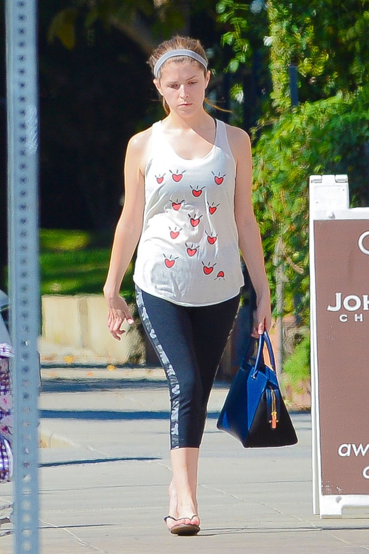 Anna Kendrick In Tights Out In West Hollywood August 2014