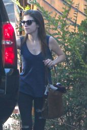 Anna Kendrick - Leaving Her House in Los Angeles - September 2014